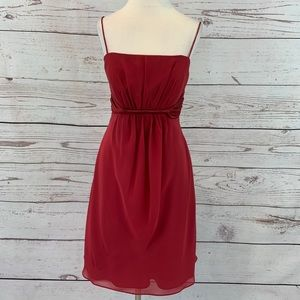 Alfred Angelo red bridesmaid aline dress